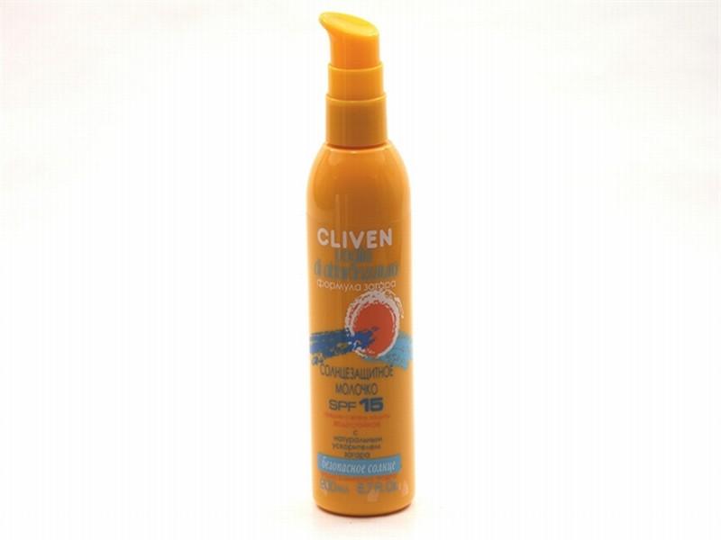 КЛИВЕН молочко солнцезащит. водост.SPF 25 200мл 9881