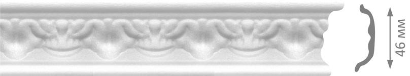 Плинтус потолочный VТМ М4-08 2м (4шт)