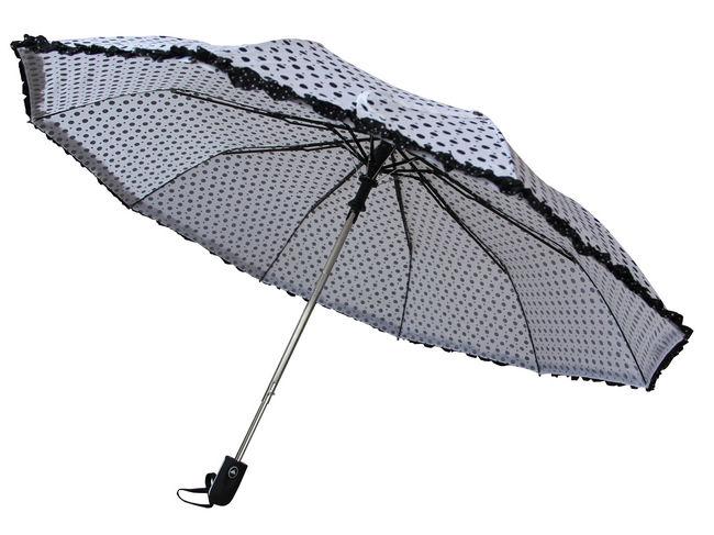Зонт  полу автомат 3 сложения 302030