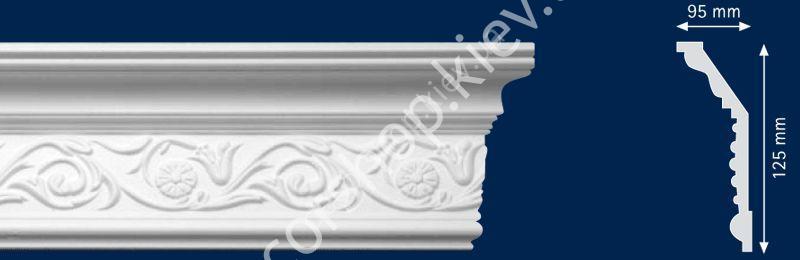 Плинтус потолочный Кармен (65х135)