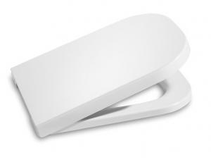 Сиденье с крышкой с механизмом плавного опускания, шарниры металлические, цвет белый