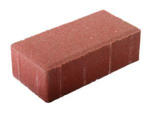 Плитка тротуарная красная