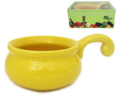 Жюльенница-кокотница 14см желтая, зеленая, оранжевая
