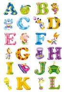 Декор 6002КE Английский алфавит