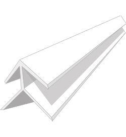 Профиль ПВХ Угол наружный 8мм, 3м белый