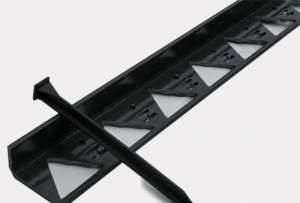 Бордюр садовый декоративный черный пластмас. для огражд.садовых дорожек,клумб