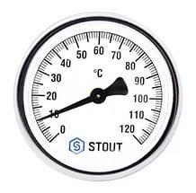 'Термометр биметаллический ф63 мм, гильза 75 мм c погружной гильзой