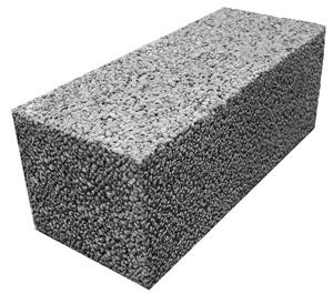 Блок керамзит. полнотелый 190х190х400 мм Сафоново.вес15кг