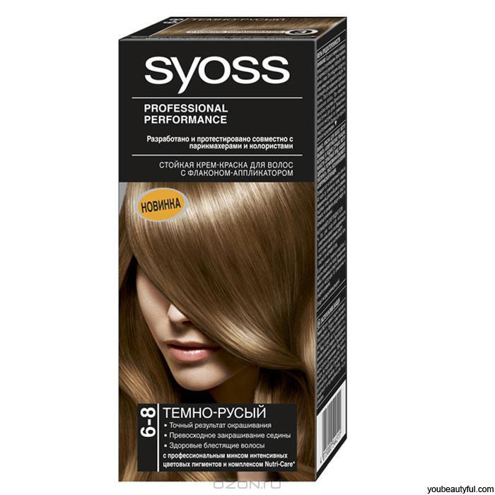 Краска для волос SYOSS  Темно-русый 6-8