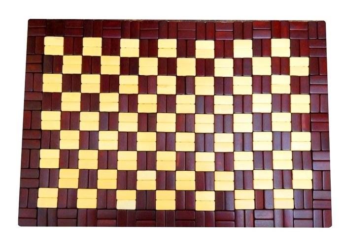 Коврик-сидушка бамбук 0,45х0,3м ШАХМАТЫ