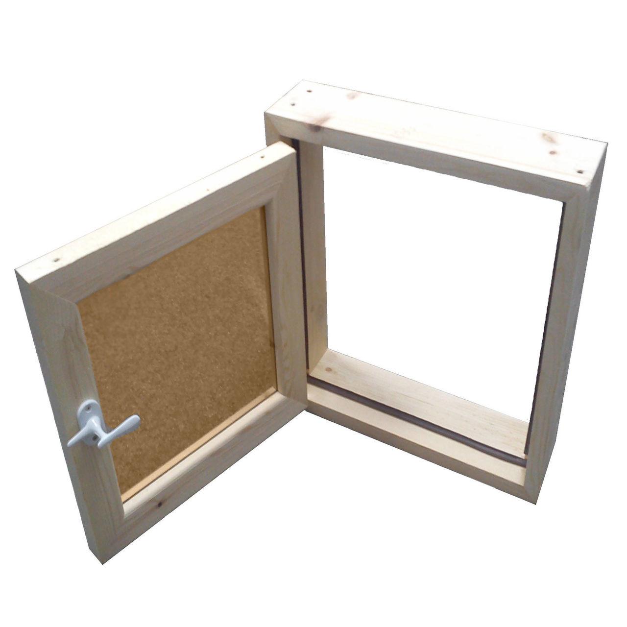 Окно для бани 30х30 с остекл. липа