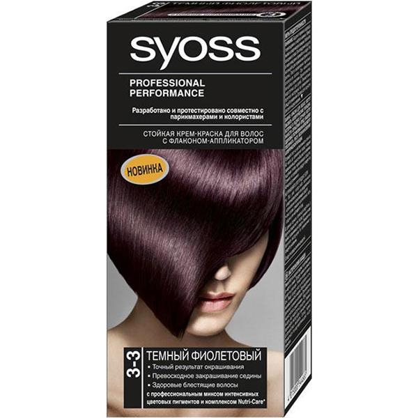Краска для волос SYOSS  Темно-фиолетовый3-3