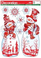 'Наклейки 1916 Два Снеговика