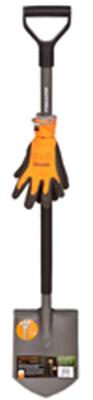 Лопата FISKARS штыковая садовая Эргономик+перчатки 131416